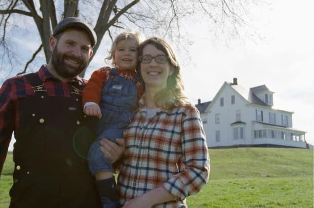 Adam Clawson, Nicola Mason and their daughter Freya, purchased the Neill  farmhouse in the Devon area of Fredericton in hopes of relocating their craft cider business and expanding into eco-tourism.