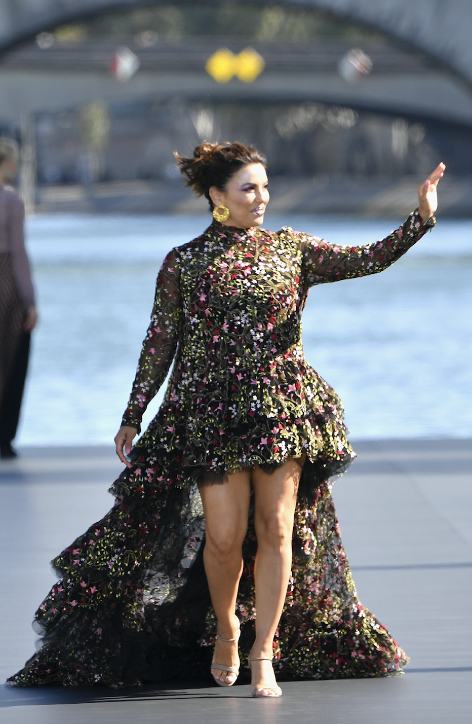 Eva Longoria on the L'Oreal catwalk at Paris Fashion Week. [Credit: L'Oreal]