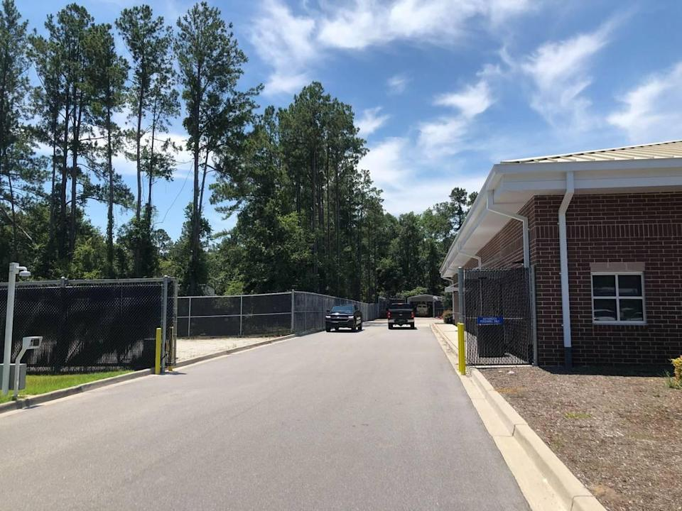 The side of the Colleton County Sheriff's Office on June 24, 2021