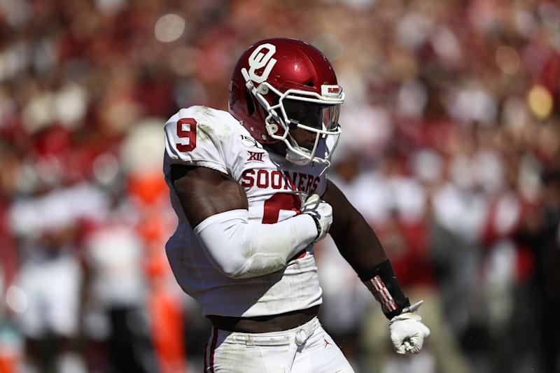 LB Kenneth Murray has been the heartbeat of the Oklahoma Sooners' defense this season. (Photo by Ronald Martinez/Getty Images)