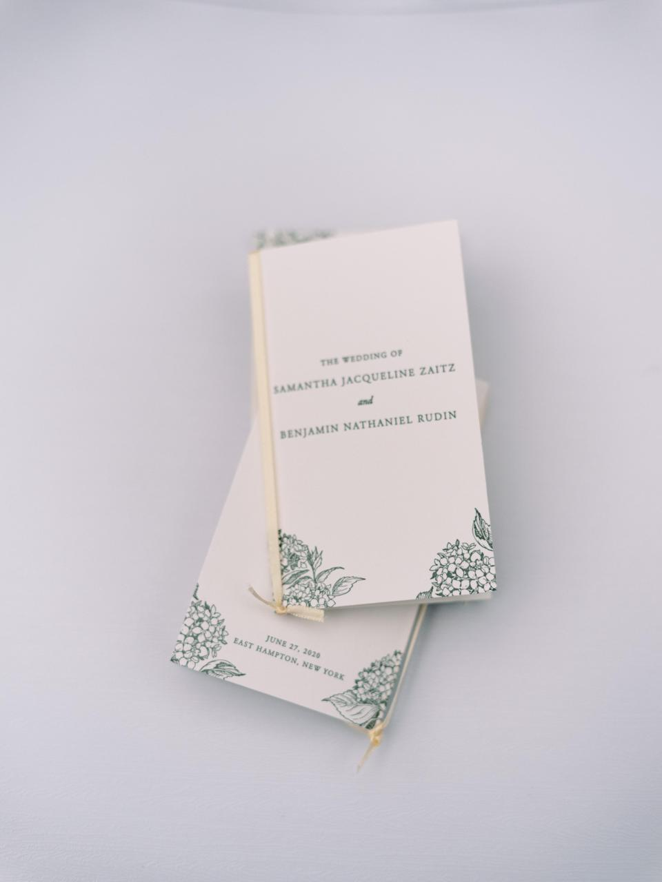 The letterpressed ceremony programs that Fete designed were so beautiful. We felt this was an important keepsake to have from the wedding.
