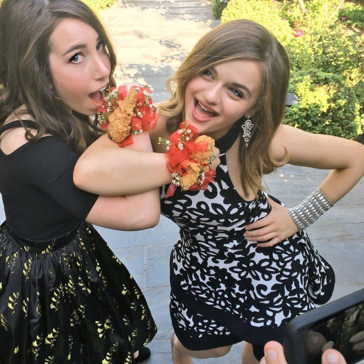 Joey King and her best friend.