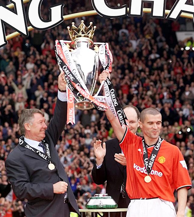 Keane won seven league titles under Ferguson at Manchester United (Credit: Getty Images)