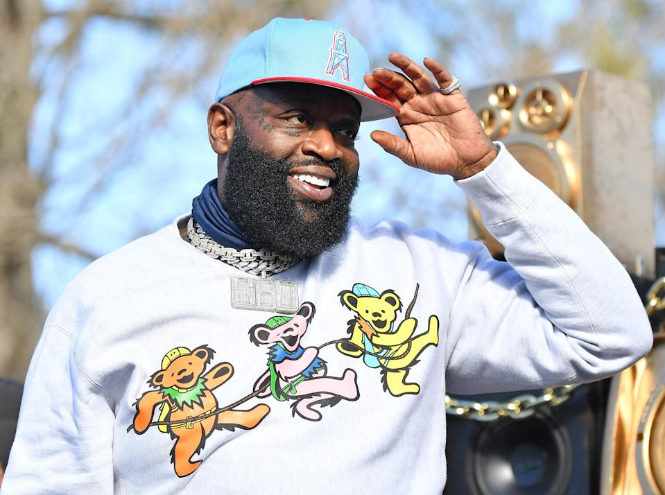 Rick Ross performs in Atlanta, December 29, 2020.