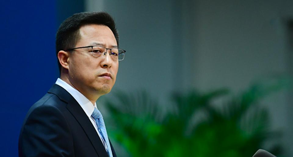 Zhao Lijian has questioned Australia's intentions over the move. Source: FMPRC
