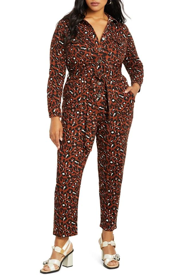 "<p>Go bold in this fun <a href=""https://www.popsugar.com/buy/ELOQUII-Leopard-Print-Long-Sleeve-Cotton-Jumpsuit-488081?p_name=ELOQUII%20Leopard%20Print%20Long-Sleeve%20Cotton%20Jumpsuit&retailer=shop.nordstrom.com&pid=488081&price=140&evar1=fab%3Aus&evar9=45322259&evar98=https%3A%2F%2Fwww.popsugar.com%2Ffashion%2Fphoto-gallery%2F45322259%2Fimage%2F46582285%2FELOQUII-Leopard-Print-Long-Sleeve-Cotton-Jumpsuit&list1=shopping%2Cfall%20fashion%2Cfall%2Cjumpsuits&prop13=mobile&pdata=1"" rel=""nofollow"" data-shoppable-link=""1"" target=""_blank"" class=""ga-track"" data-ga-category=""Related"" data-ga-label=""https://shop.nordstrom.com/s/eloquii-leopard-print-long-sleeve-stretch-cotton-jumpsuit-plus-size/5418309?origin=category-personalizedsort&amp;breadcrumb=Home%2FWomen%2FClothing%2FJumpsuits%20%26%20Rompers&amp;color=speckled%20cheetah"" data-ga-action=""In-Line Links"">ELOQUII Leopard Print Long-Sleeve Cotton Jumpsuit </a> ($140).</p>"