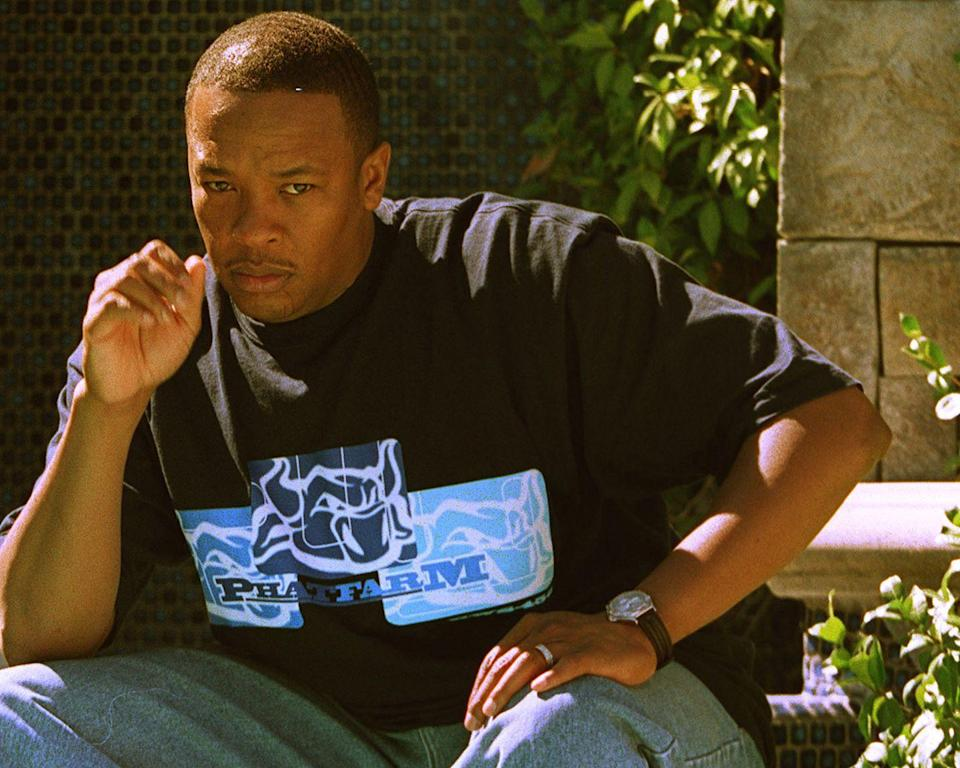 <p>Dr. Dre pictured at his home in Woodland Hills, California on October 7, 1999.</p>