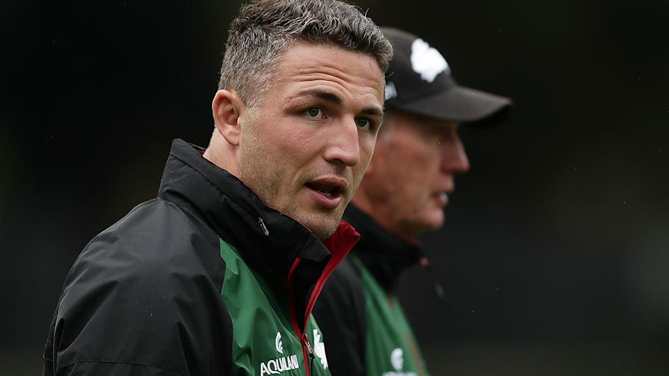 Former Rabbitohs captain Sam Burgess has successfully had a conviction over an intimidation charge overturned. (Photo by Mark Metcalfe/Getty Images)