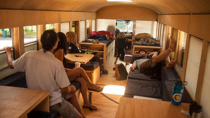 Check Out This School-Bus-Turned-Stylish-Motor-Home