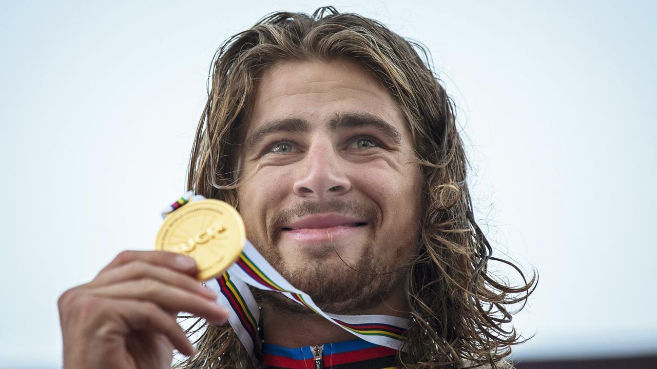 Peter Sagan has become the first rider since 2007 to retain his world championship road race title.