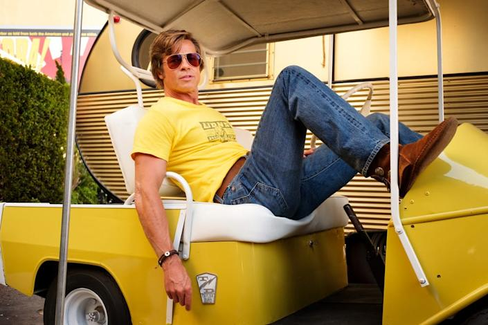 """<div class=""""inline-image__caption""""><p>Brad Pitt stars in Quentin Tarantino's <em>Once Upon a Time in Hollywood</em></p></div> <div class=""""inline-image__credit"""">Sony Pictures Entertainment</div>"""