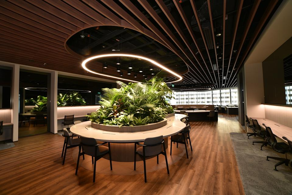 Citi Wealth Hub at 268 Orchard occupies an area of 30,000 sq ft across four floors which include flexible work spaces. (Source: Citi)