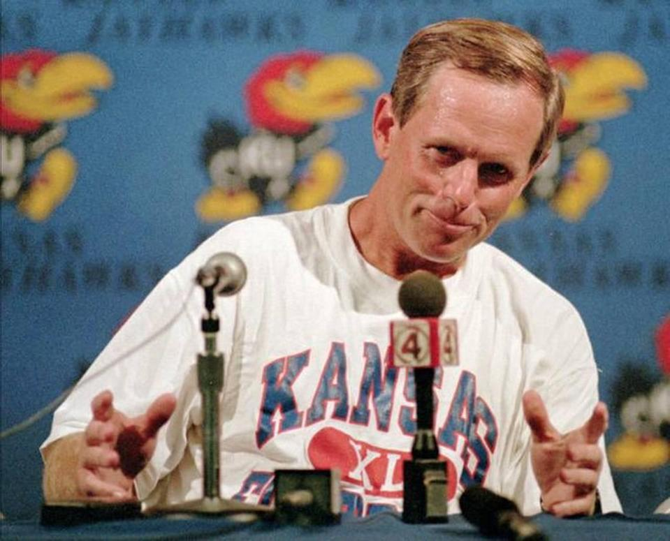 Glen Mason, in a 1994 file photo, achieved some success as Kansas football coach and thinks the job can still be attractive 18 years later as KU looks for a new hire.
