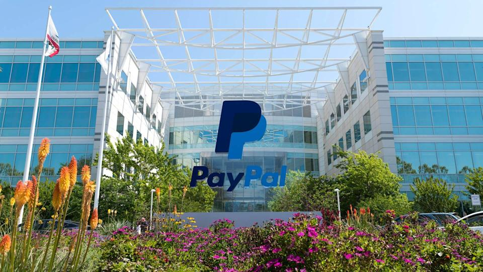 San Jose, California, USA - April 26, 2018: Exterior view of Paypal 's headquarters in Silicon Valley.