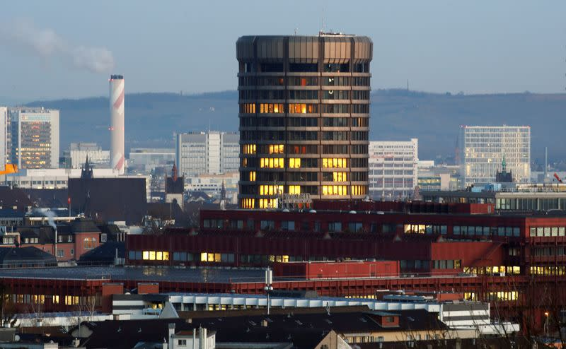 Headquarters of the Bank for International Settlements are seen in Basel