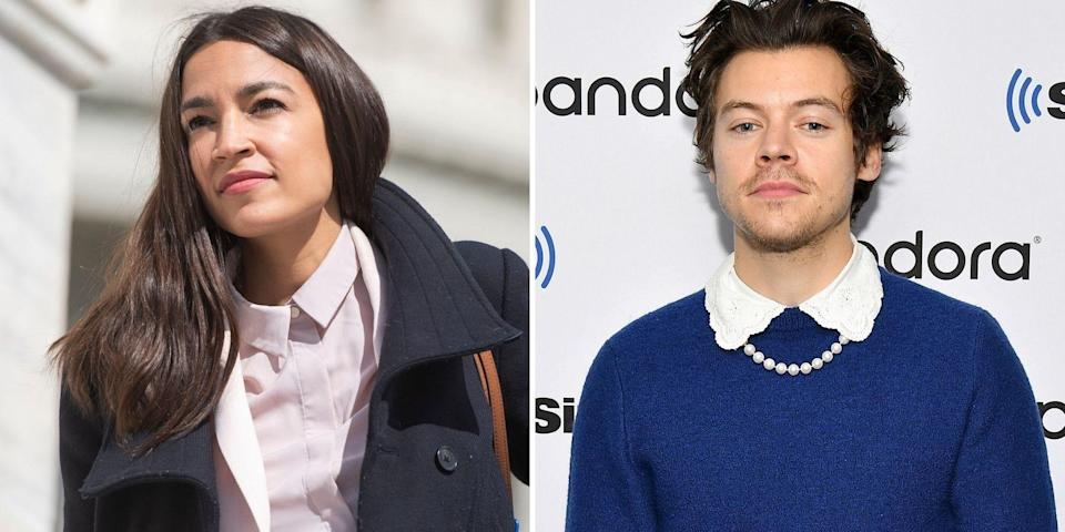 aoc defends harry styles vogue cover