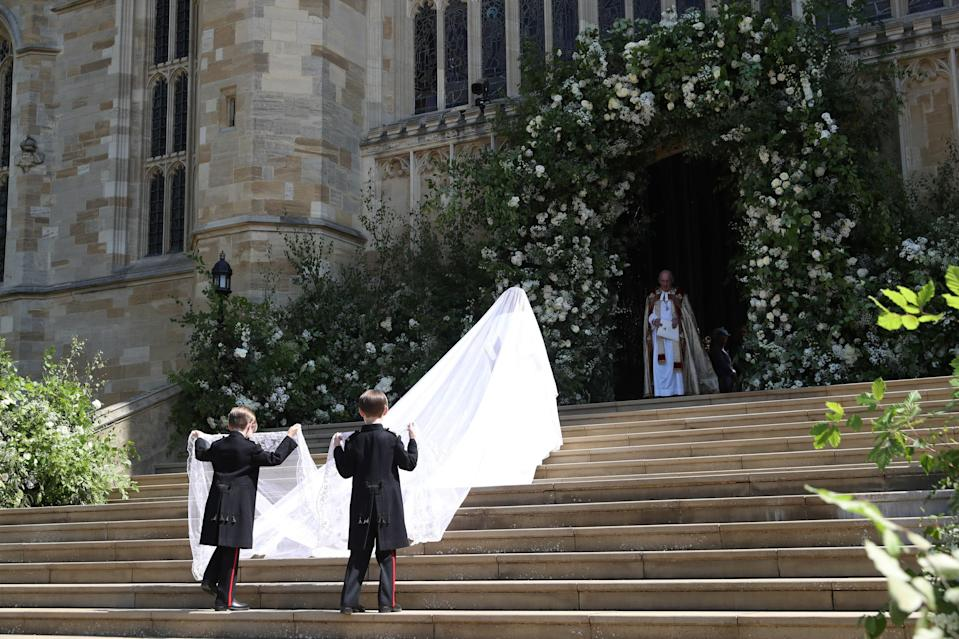 Meghan Markle making her entrance. (Photo: Getty Images)