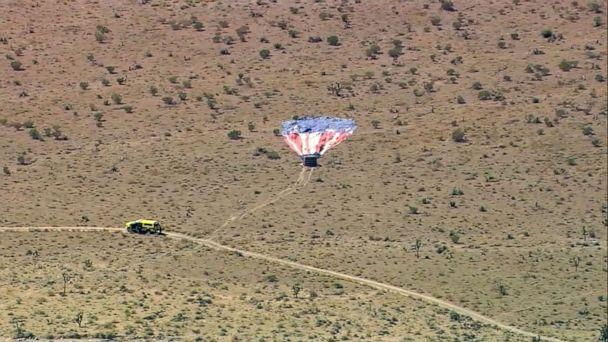PHOTO: A hot air balloon crash outside Las Vegas, Nevada, Sept. 12, 2019. (KTNV)