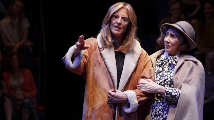 "Christine Lahti, left, and Joanna Glushak in ""Great Performances: Gloria: A Life"" on PBS. <span class=""copyright"">(Joan Marcus/PBS)</span>"