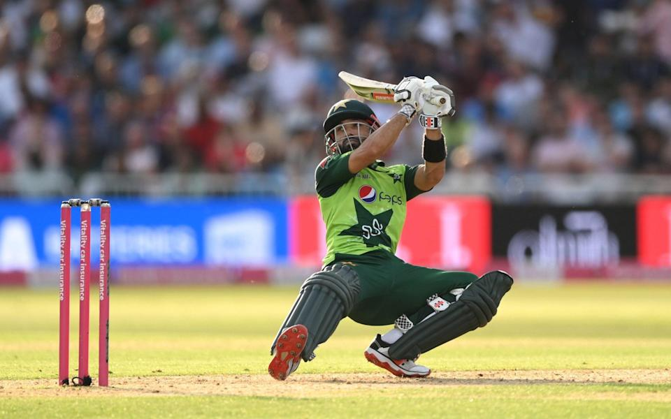 Pakistan batsman Mohammad Rizwan in batting action during the 1st T20 match between England and Pakistan at Trent Bridge - Stu Forster/Getty Images