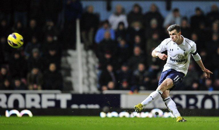 Gareth Bale in action against West Ham on on February 25, 2013