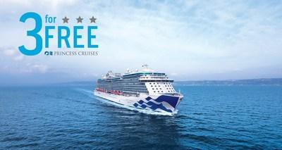 Princess Cruises 3 for Free Sale Returns Offering Cruise Deals to Worldwide Destinations