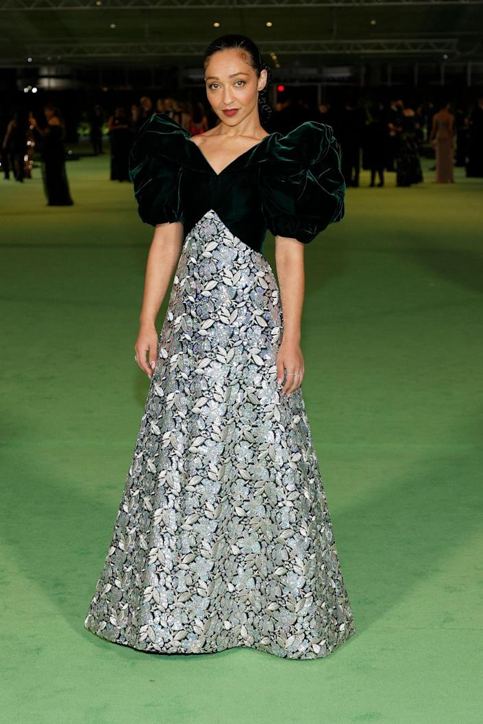 <p>WHO: Ruth Negga</p> <p>WHAT: Vintage Arnold Scaasi from Shrimpton Couture </p> <p>WHERE: The Academy Museum of Motion Pictures Opening Gala</p> <p>WHEN: September 25</p>