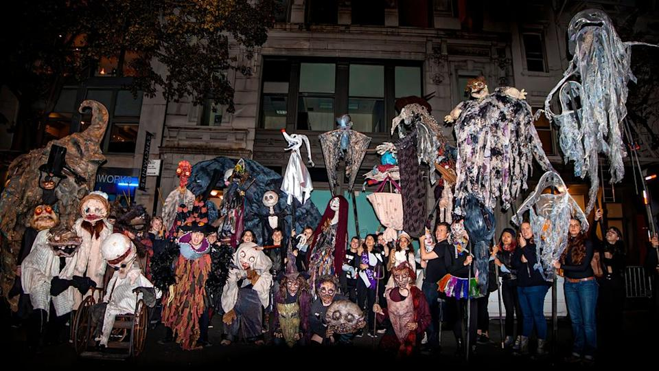 Brandon Hardy's puppets from the 2018 New York City's Village Halloween Parade