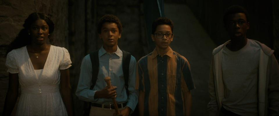 """<p>Starring Jaden Michael, Gerald W. Jones III, and Gregory Diaz IV, among others, this comedy-horror follows three teens from the Bronx who attempt to protect their rapidly gentrifying neighborhood from a band of vampires. Watch <a href=""""http://www.netflix.com/title/80998174"""" class=""""link rapid-noclick-resp"""" rel=""""nofollow noopener"""" target=""""_blank"""" data-ylk=""""slk:Vampires vs. the Bronx""""><strong>Vampires vs. the Bronx</strong></a> on Netflix now.</p>"""