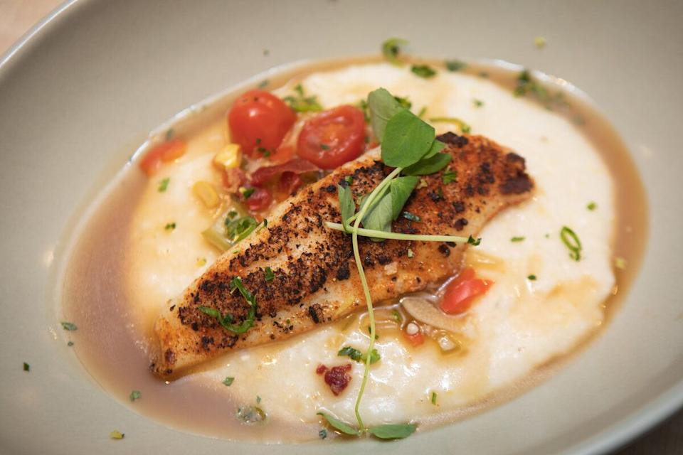 Catfish with grits and red eye gravy. (Photo: Clay Williams)