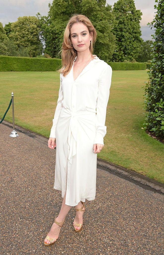 <p>The Yesterday actor wore a white dress. </p>
