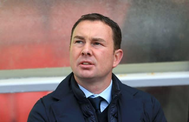 Morecambe manager Derek Adams took charge in November 2019 (Nigel French/PA)