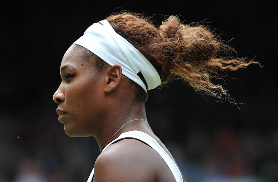 US player Serena Williams plays Germany's Sabine Lisicki