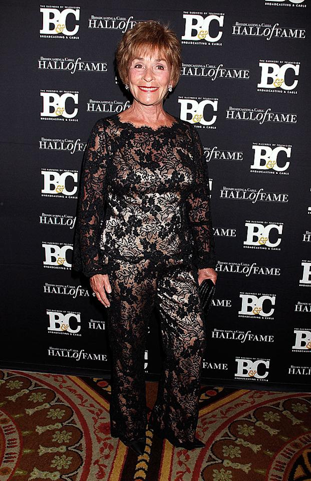 NEW YORK, NY - DECEMBER 17:  Judge Judy Sheindlin attends the 2012 Broadcasting & Cable Hall of Fame Awards at The Waldorf=Astoria on December 17, 2012 in New York City.  (Photo by Laura Cavanaugh/FilmMagic)
