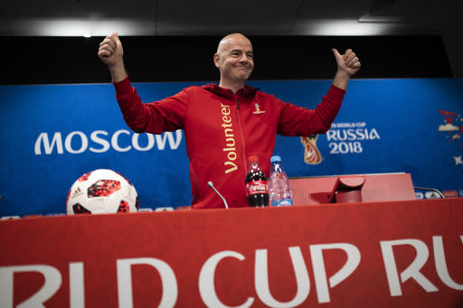 World Cup in Russian Federation  'best ever' -Infantino