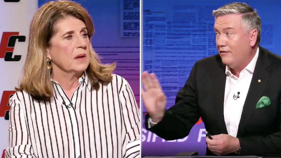 Eddie McGuire and Caroline Wilson, pictured here on Footy Classified.