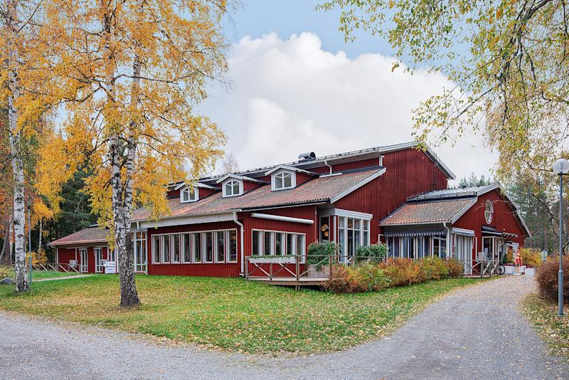 One of the 70 buildings that is part of the 62-acre village.