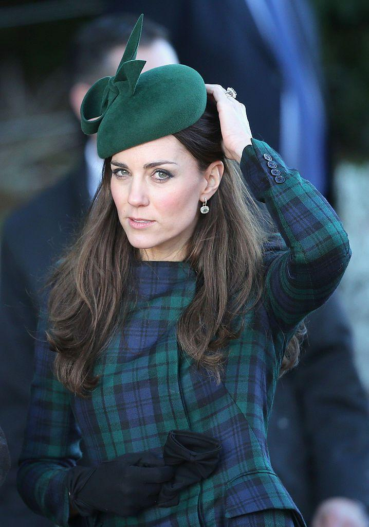<p>She's worn this classic Black Watch tartan coat a number of places, including a visit to her prep school to Christmas services with her in-laws.</p>