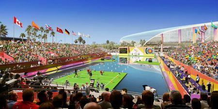 Paralympic archery at L.A. Stadum at Hollywood Park. Courtesy LA 2024/via REUTERS