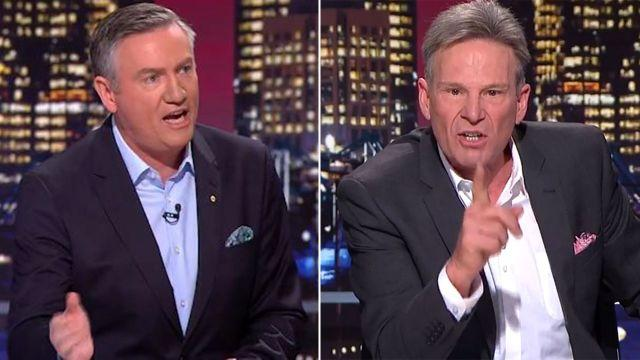 Eddie and Sam were fired up. Image: AFL Footy Show