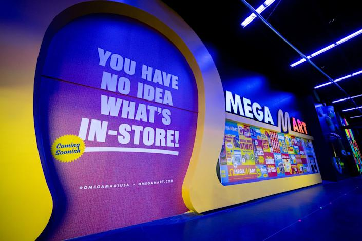 """The completed Omega Mart facade. <span class=""""copyright"""">(Meow Wolf)</span>"""