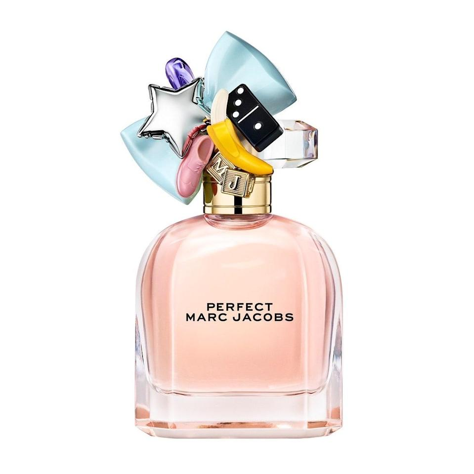 """<p>Intended as an ode to self-love, <a href=""""https://www.allure.com/story/marc-jacobs-perfect-fragrance-lila-moss-interview?mbid=synd_yahoo_rss"""" rel=""""nofollow noopener"""" target=""""_blank"""" data-ylk=""""slk:Marc Jacobs Perfect"""" class=""""link rapid-noclick-resp"""">Marc Jacobs Perfect</a> is like floral candy with the smoothest aftertaste. Its notes may seem a little out of left field — rhubarb, daffodil, almond milk, and cashmeran — but that kind of unexpected blend captures the originality Jacobs set out to celebrate with this eau de parfum.</p> <p><strong>$96 for 1.6 ounces</strong> (<a href=""""https://shop-links.co/1716147252992176470"""" rel=""""nofollow noopener"""" target=""""_blank"""" data-ylk=""""slk:Shop Now"""" class=""""link rapid-noclick-resp"""">Shop Now</a>)</p>"""