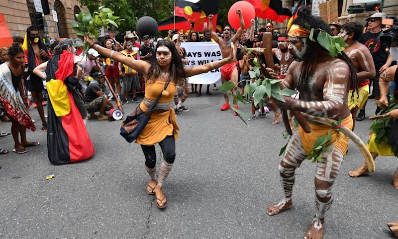 The Invasion Day rally in Brisbane
