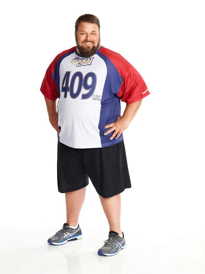 "David Brown competes on NBC's ""The Biggest Loser"" Season 15."
