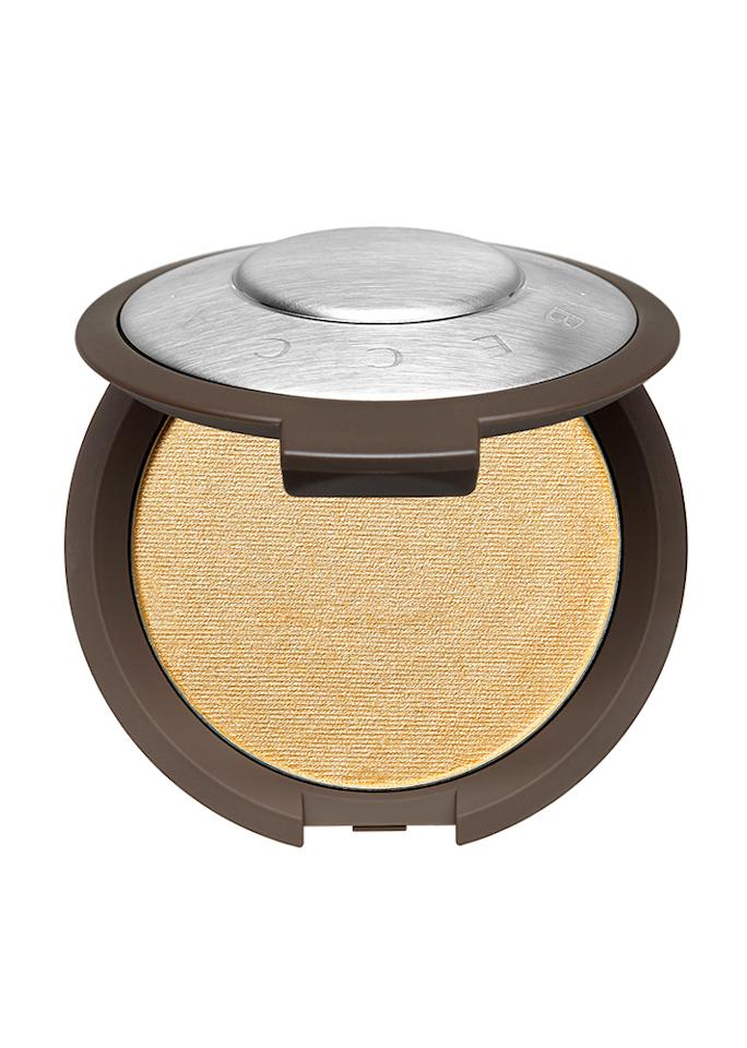 "Becca Shimmering Skin Perfector Pressed Highlighter in Prosecco Pop, $38; at <a rel=""nofollow"" href=""https://www.beccacosmetics.com/shop/highlighters/shimmering-skin-perfector-pressed-2eeec7.html"" rel="""">Becca</a>"