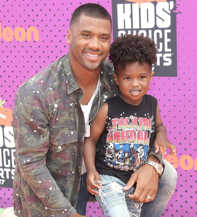 Russell Wilson and stepson Future