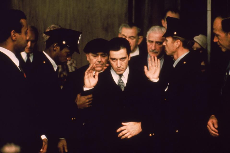 "Al Pacino (center) plays Michael Corleone, the new don of the crime family, in ""The Godfather: Part II."""