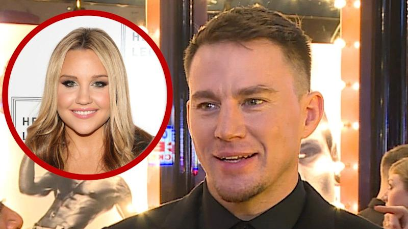 dcd7f970f9 Channing Tatum Reacts to Amanda Bynes Saying She Fought For Casting Him in   She s the Man  (Exclusive)