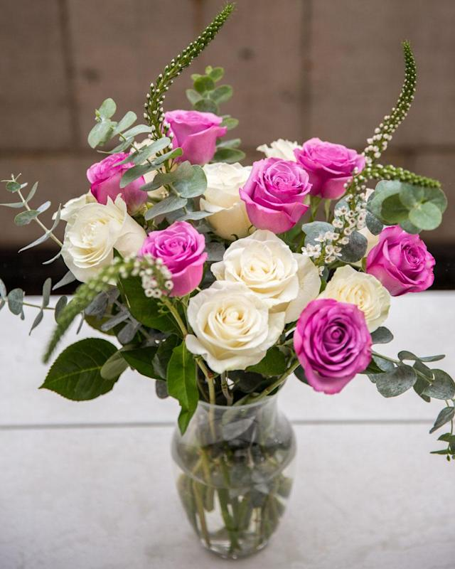 <p>Classic and inexpensive, these city staple can be found in bodegas, supermarkets, and local farmers markets throughout the country — and with a little imagination and slight rearranging of the stems, you too can have a grand looking bunch to bring for mom. <em>Tip: Mix and match the colors of the flowers. </em><br>White and pink roses with eucalyptus and veronica white flowers Pricing: $10 per bunch of white roses, $10 per bunch of pink roses, $6 per bunch of eucalyptus, $6 per bunch of veronica white flowers<br>(photo: Priscilla De Castro) </p>