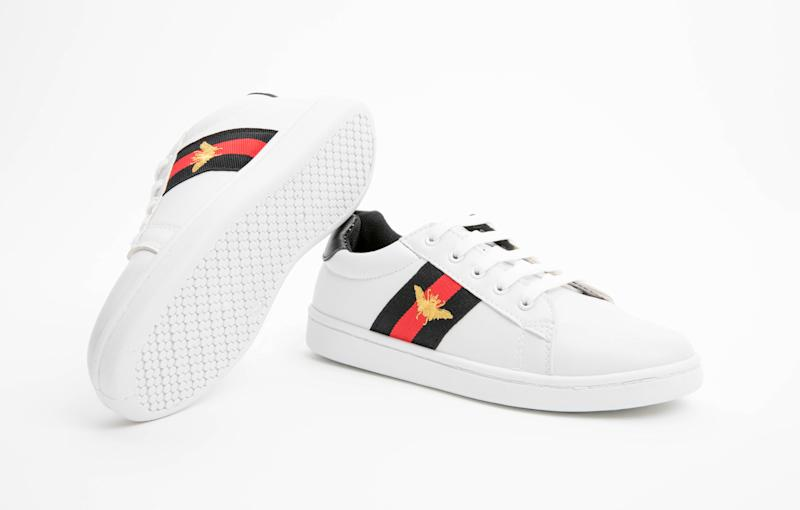 Poundland has launched a pair of trainers inspired by Gucci [Photo: Pep & Co]